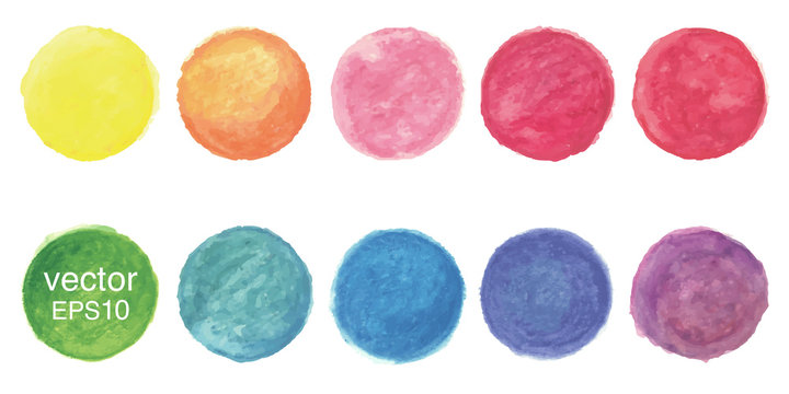 Vector watercolor circle background