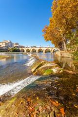 pont Tibère, pont romain de Sommières, sur le Vidourle, Gard, France