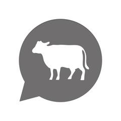 Graue Sprechblase rund - Kuh