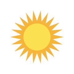 isolated big sun