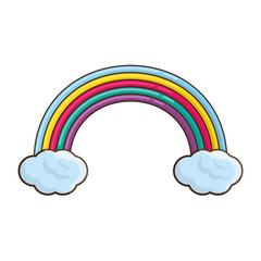Beautiful rainbow cartoon