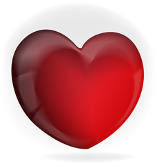 Valentines love heart logo icon