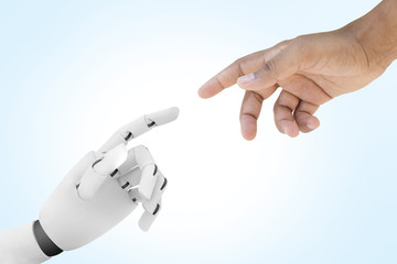 Robot reaching for human's hand - Artificial Intelligence