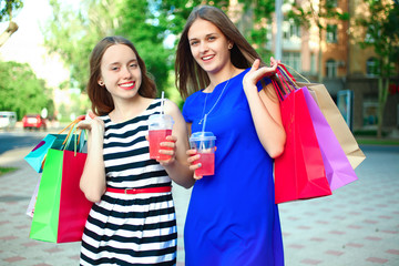 girls with purchases