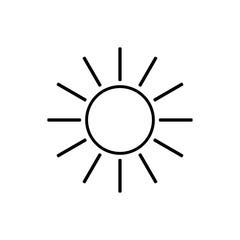 Line sun icon vector