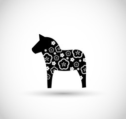 Dala horse Swedish decoration vector