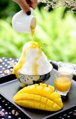 milk and mango