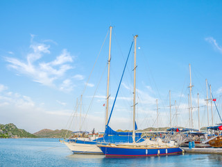 Sailing boats in port of Kekova
