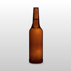 Beer bottle mock up for your design eps 10