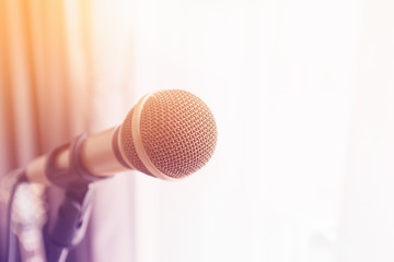 Microphone with colorful light