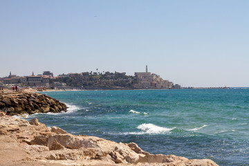 Jaffa Tel aviv in Israel and sea
