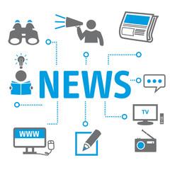 News Symbole - Neuigkeiten Vektor Illustration