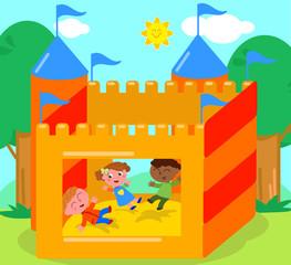 Bouncy castle vector