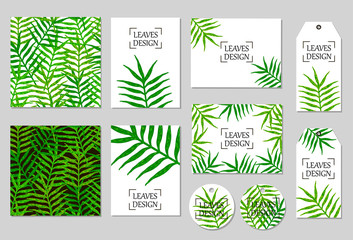 Vector set templates with leaves