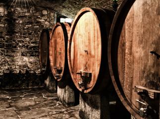 Wine cellar in Chianti region, Tuscany, Italy