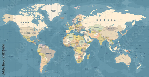 World map vector detailed illustration of worldmap stock image and world map vector detailed illustration of worldmap gumiabroncs Choice Image