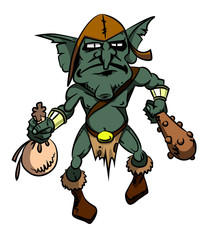 Foto op Textielframe Wild West Cartoon image of goblin. An artistic freehand picture.