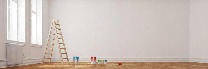 Obraz Panorama von Wohnung bei Renovierung - fototapety do salonu