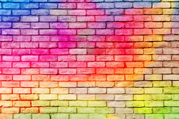 Abstract Colorful brick wall background