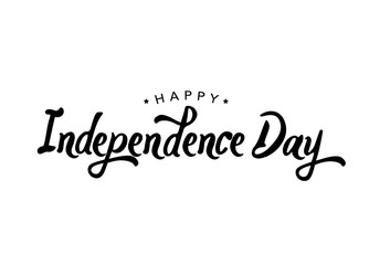Calligraphic Independence Day Vector Typography