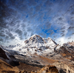 Mount Annapurna South - view from Annapurna Base Camp, Nepal