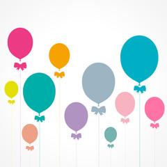 affiche ballons colorés
