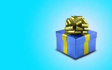 Geschenkbox für Herren mit Schleife und Textfreiraum
