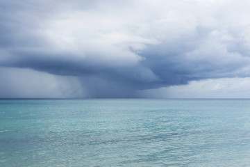 Tropical storm over the ocean
