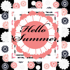 Hello summer image isolated on color background