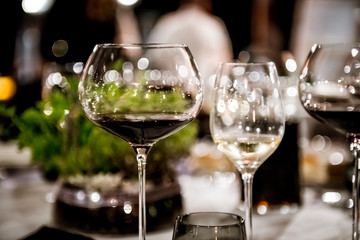 Drinking dinner party red wine concept
