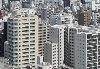 東京都市風景 都心のマンション群