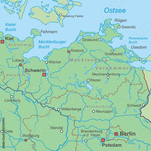 Karte Norddeutschland Ostseekuste.Deutschland Die Ostseekuste Landkarte Stockfotos Und