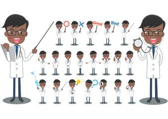 白衣を着た医者セット