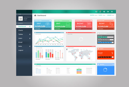 Admin Dashboard Vectorial Design