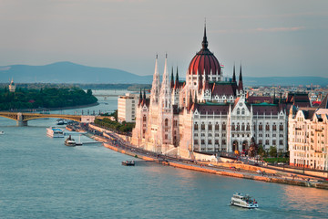 Foto op Canvas Oost Europa The Beautiful Capital City of Budapest in Hungary
