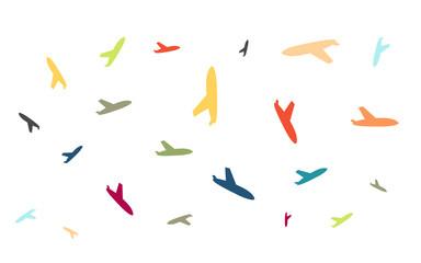 Viele bunte Flieger