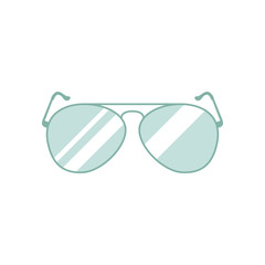 Sunglasses icon. Vector color illustration