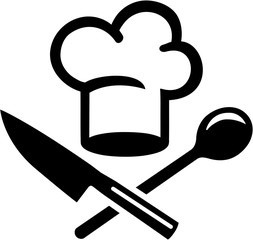Chefs hat with crossed cutlery