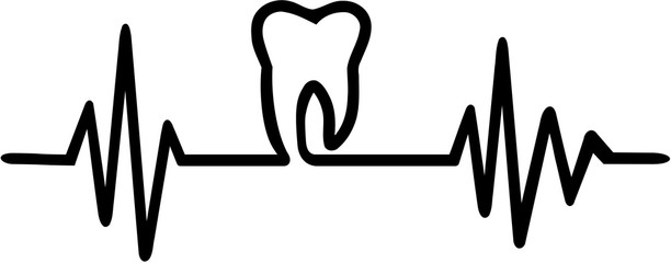 Tooth heartbeat line