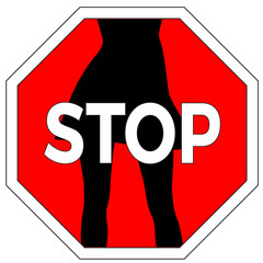 Stop sexual harassment. Concept sign to ban molestation against women