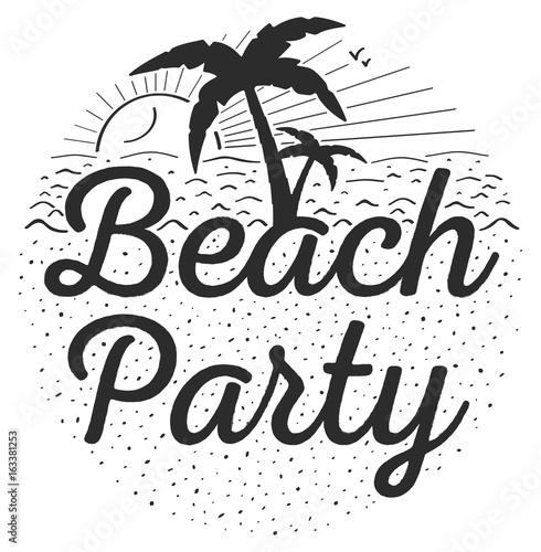 Vintage Beach Party Logo