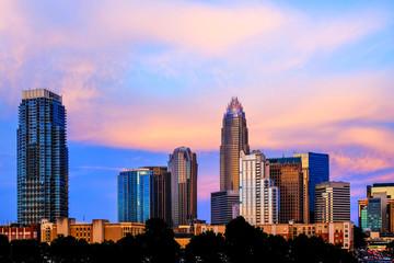 Charlotte, NC Skyline at Sunset