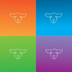 outline sheep logo