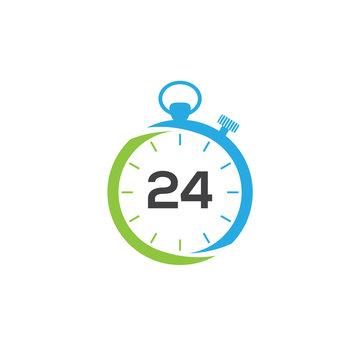 Time logo, 24 hours logo