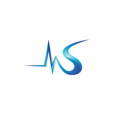 MS letter logo