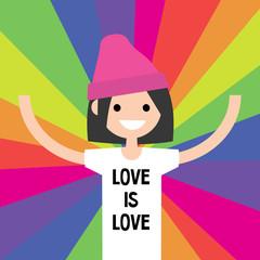 LGBTQ Rainbow. LGBT rights conceptual illustration / flat editable vector, clip art