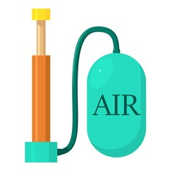 Air pump icon, cartoon style