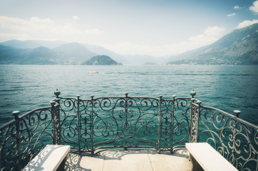 view on Lake Como in north italy
