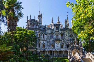 Fototapete - Palace Quinta da Regaleira, Sintra, Portugal. Palace with symbols related to alchemy, Masonry, the Knights Templar, and the Rosicrucians