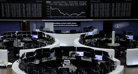 Picture of the German share price index, DAX board, at the stock exchange in Frankfurt